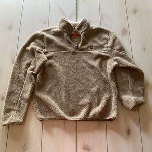M coleman pullover fleece sweatshirt tan